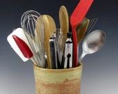 Large Kitchen Utensil Holder, Stove-Side Utensil Holder, Utensil Holder Vase, KitchenTool Holder