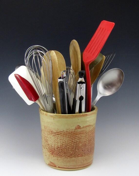 Large kitchen utensil holder stove side utensil holder - Unique kitchen utensil holder ...