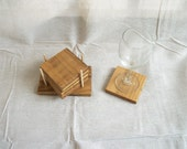Handmade Reclaimed Wood Coasters Recycled Fence Wood Rustic Home Decor Sets of 4 or 5 With Or Without Holder