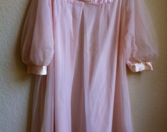 Vintage Pale Pink Robe By Gossard