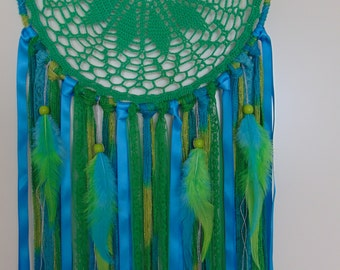 Large dreamcatcher Green and Turqoise