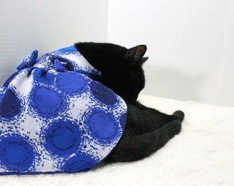 Royal Blue Dress for Cat with Small Bow