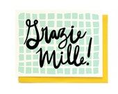 Grazie Mille Card - Singles & Box Set
