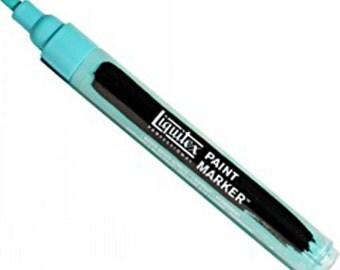 Liquitex Professional Paint Markers, 2-4 mm nib, Bright Aqua Green, Water-Based Acrylic Marker Pen, Lightfast, Permanent, Mixed Media Supply