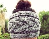 Knit Braided Headband, Knit Headband, Knit Beanie, Turban, Cute Turban Headband