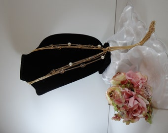 Vintage Ivory Faux Pearl and Pale Pink Bead Gold ToneChain Knotted Necklace - Long Beautiful and Elegant