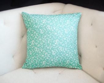 Aneta Lotta Jansdotter Print 18x18 Echo Pillow Cover in Green Catalina