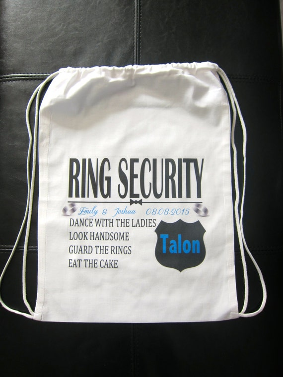 RING SECURITY Personalized Ring Bearer Gift Ring Bearer