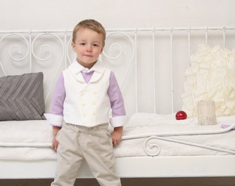 ring bearer outfit wedding party outfit toddler boy vest and pants boys baptism outfit boys jacquard