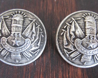 Metal Coat of Arms button QTY 2 30mm