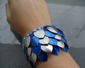 Blue and Silver Dragon Scale Wristband