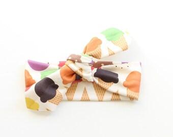 SALE || Newborn Headband || Organic Cotton Headband || Ice Creams || Organic Cotton Headband