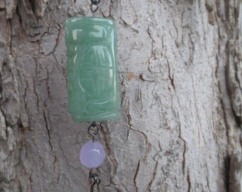 Aventurine Necklace with Amethyst and Mother of Pearl