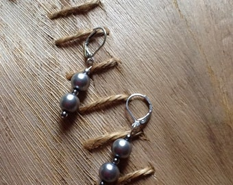 Black Pearls Earrings