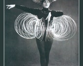 Slinky Woman Fridge Magnet , weird vintage image Dancer in a Slinky costume