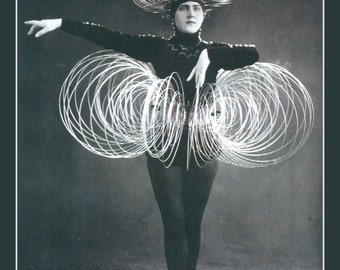 Slinky Woman Fridge Magnet , weird vintage image Dancer in a Slinky costume
