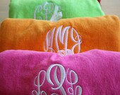 Monogrammed Beach Towels-Available in 12 colors-Personalized Towels, Embroidered Towels, Monogrammed Gifts, Monogrammed Bridesmaid Gifts