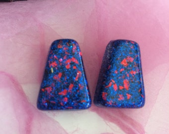 Glitter and Confetti Lucite Earrings