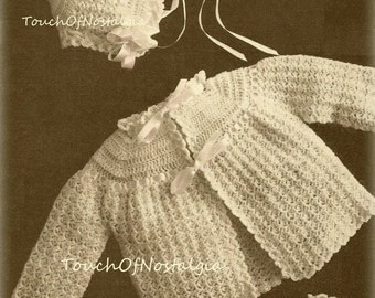 Crochet Baby LAYETTE Vintage Crochet Pattern - HEIRLOOM LACE Baby Layette / Special Occasion - Very Dainty