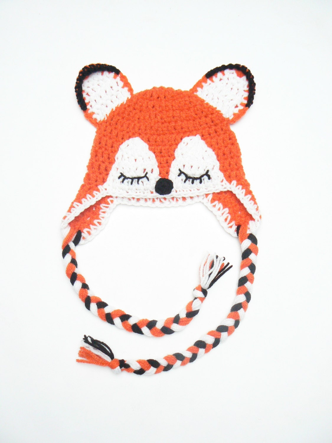 Crochet Fox Hat : Fox Hat Crochet Fox Hat Newborn Fox Hat Animal Hat Photo by 2mice