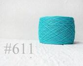 Turquoise linen crochet thread # 611