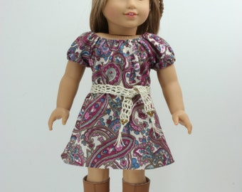 1970s Pasiley  American Girl style 18inch Doll Dress