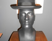BILTMORE 7 1/8 vintage Homburg men's hat black wool flawless condition