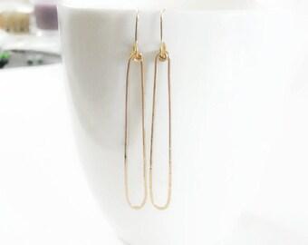 Gold Filled Earrings//Long Dangle Earrings//Woman Earrings/ Handmade Jewelry//FALL//Gifts Under 40