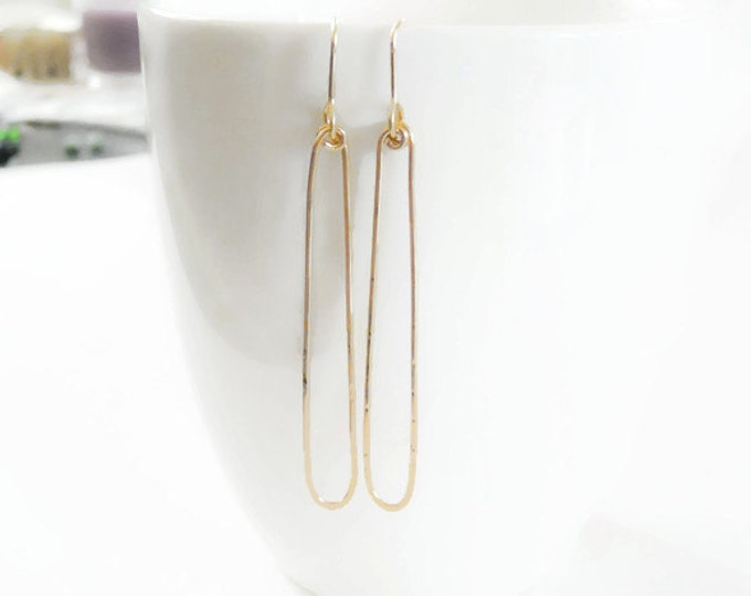 Gold Filled Earrings//Long Dangle Earrings//Woman Earrings/ Handmade Jewelry//FALL//Gifts Under 40