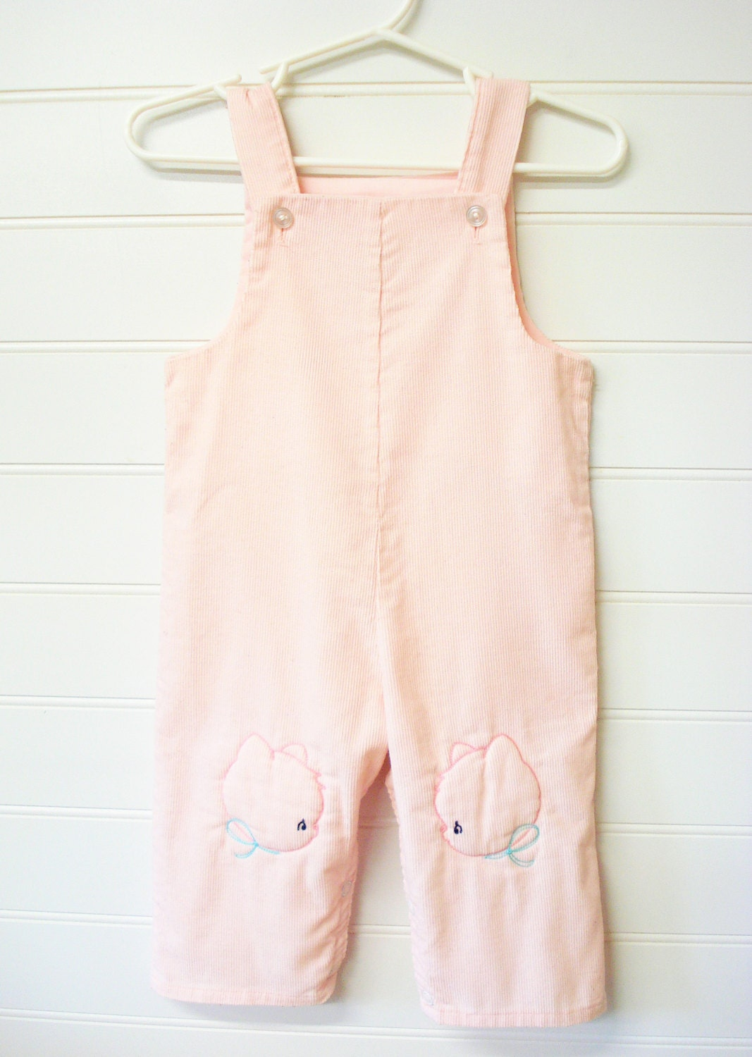 Vintage Baby Clothes Baby Girl Overalls Romper Light Pink