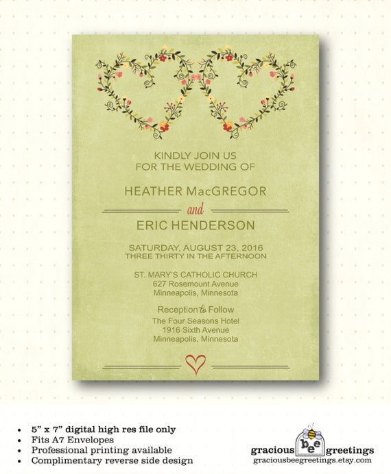 Wedding Invitation Vow Renewal 25th By GraciousBeeGreetings