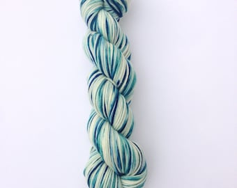 Yarn, Merino Yarn, Hand Dyed Yarn, Superwash Merino Wool, Superwash Yarn, Blue Green Yarn, DK Weight Yarn, Merino Wool