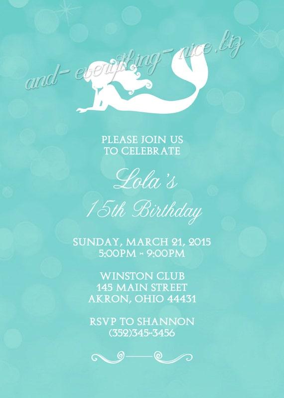 Mermaid Under The Sea Kids Teen Sweet 16 Birthday Party