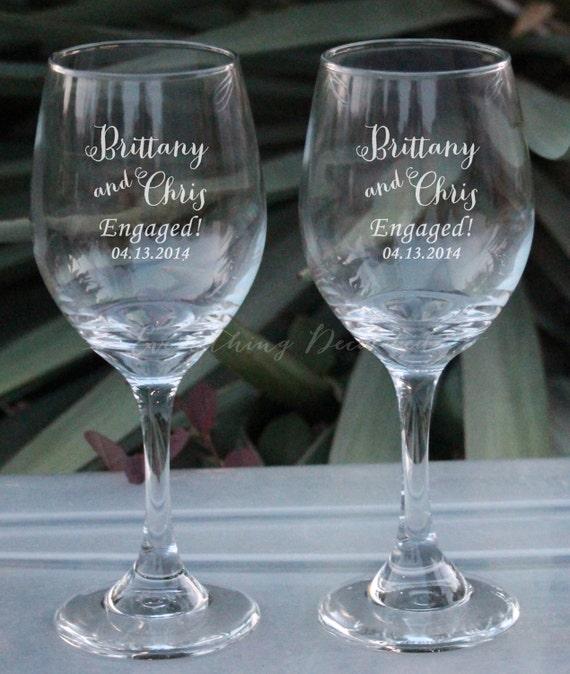 Items similar to set of 2 mr and mrs glasses mr and mrs Unique wine glasses australia