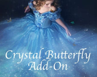 Crystal Butterfly Embellishment for Cinderella Costume (DRESS NOT INCLUDED)