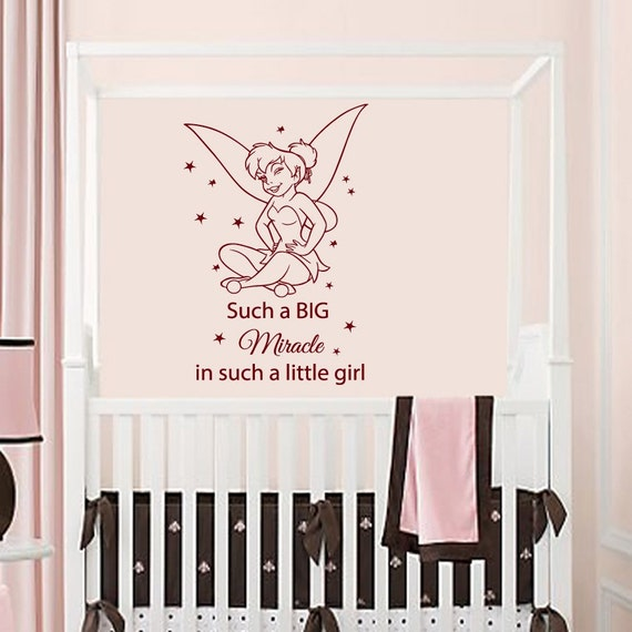 Wall Decal Quotes For Baby Nursery : Wall decals vinyl decal sticker quote miracle girl by