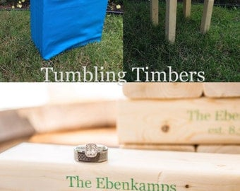 Tumbling Timbers PERSONALIZED Bundle Handmade PERFECT for your next party, camping trip or any event