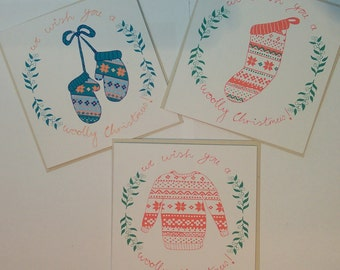 Woolly Christmas Card Selection // Recycled Christmas Card