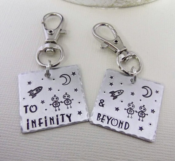 To Infinity Key Chains- To Infinity & Beyond- Relationship Key Chains- Best Friend Key Chains- BFF Key Chains- Best Friend Gift-