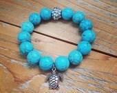 Turquoise Sea Turtle Charm Bracelet