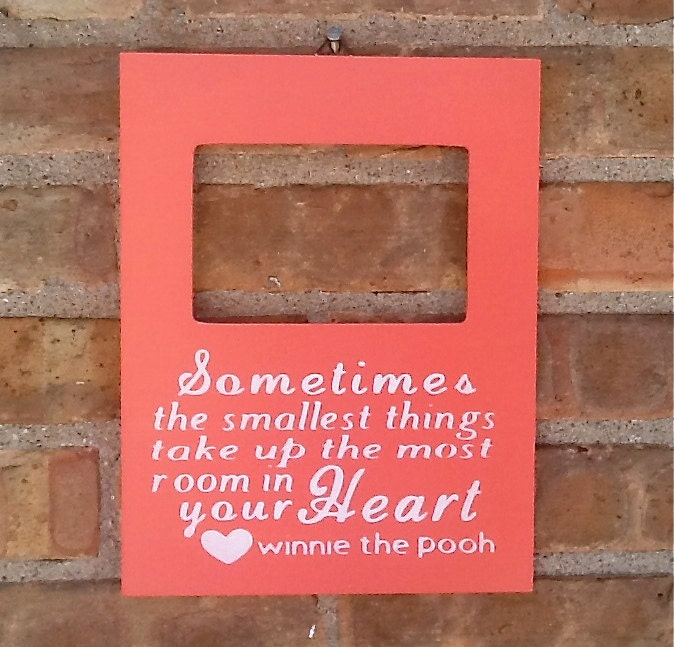 Winnie The Pooh Quotes Sometimes The Smallest Things: Custom Quote Winnie The Pooh Frame, Winnie The Pooh