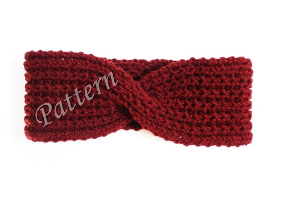 Knitting Pattern Headband Ear Warmer : PATTERN Knit Headband Ear Warmer