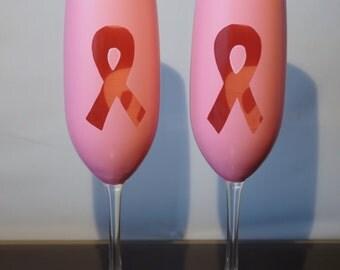 Set of 2 Breast Cancer Awareness Glasses
