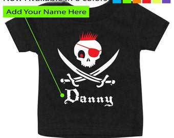 Personalized Pirate shirt for boys, Pirate birthday shirt