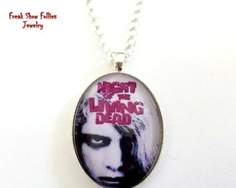 CLEARANCE Night of the Living Dead zombie movie pendant necklace