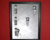 Elia in a Box - Paper Plane Love - 8x10 print