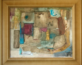 """Abstract Painting Collage """"Heavy Wait"""" by Anthony"""