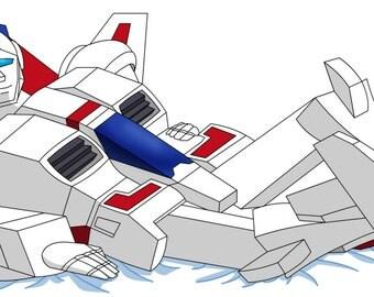 Body Pillow Case of Transformers G1 Skyfire Jetfire