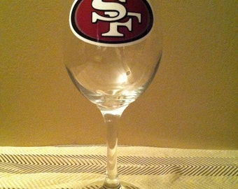 San Francisco 49ers Wine Glass