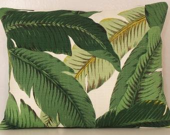 Outdoor Pillow - Palm Leaf PILLOW - Lumbar - Various Sizes - Palm Pillow Cover - Tommy Bahama - Beach - Accent Pillows - 20x20,18x18,22x22